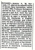 Dr. Jeremy Richard Obituary New York Times